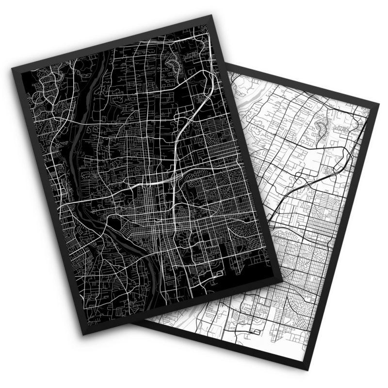 Albuquerque NM City Map Decor