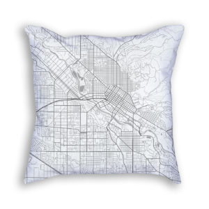 Boise Idaho City Map Art Decorative Throw Pillow