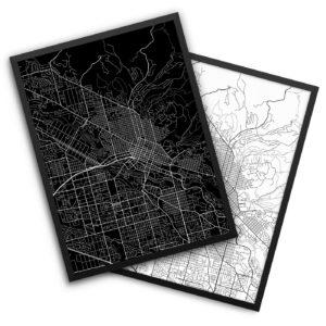 Boise ID City Map Decor