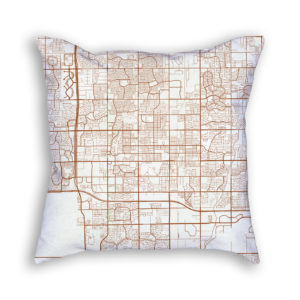 Chandler Arizona City Map Art Decorative Throw Pillow