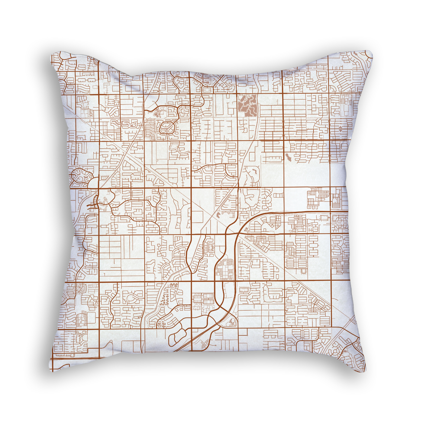 Gilbert Arizona Throw Pillow City Map Decor