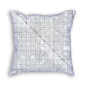 Glendale Arizona City Map Art Decorative Throw Pillow