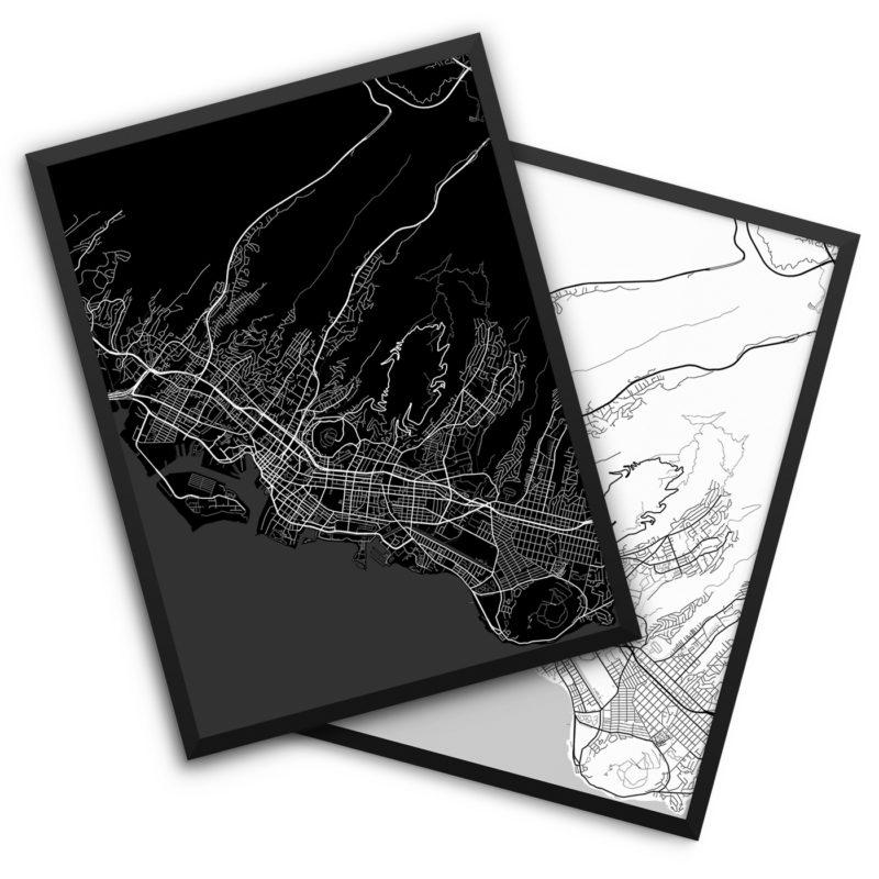 Honolulu HI City Map Decor