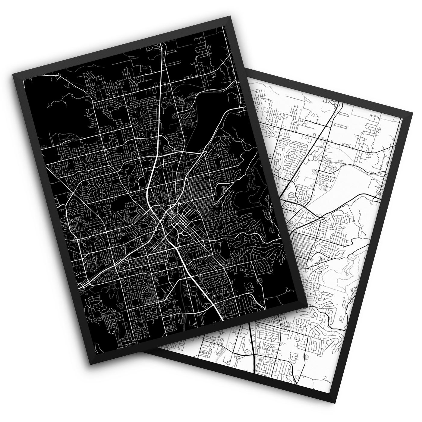 Huntsville AB City Map Decor