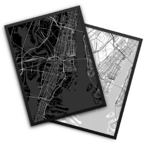 Jersey City NJ City Map Decor