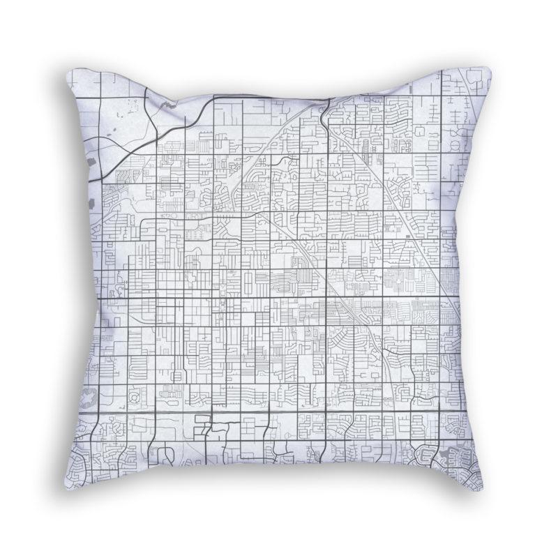 Mesa Arizona City Map Art Decorative Throw Pillow