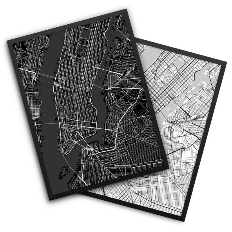 New York City NY City Map Decor