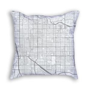 Tucson Arizona City Map Art Decorative Throw Pillow