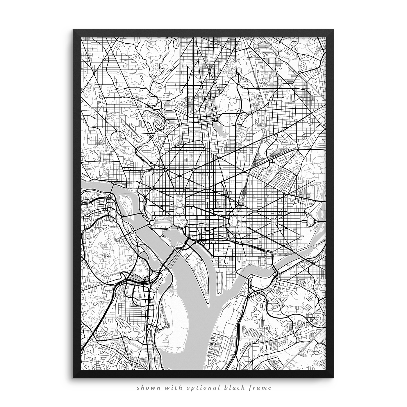 Washington DC Poster – City Map Decor on