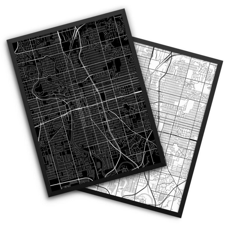 Wichita KS City Map Decor