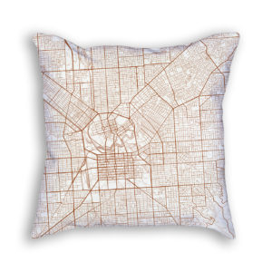 Adelaide Australia City Map Art Decorative Throw Pillow