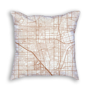 Anaheim CA City Map Art Decorative Throw Pillow