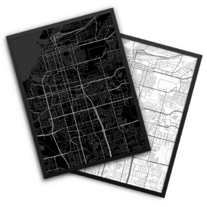 Anchorage AK City Map Decor