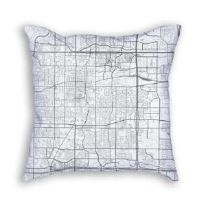 Arlington Texas City Map Art Decorative Throw Pillow