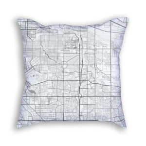 Aurora Colorado City Map Art Decorative Throw Pillow