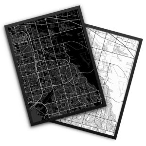 Aurora CO City Map Decor