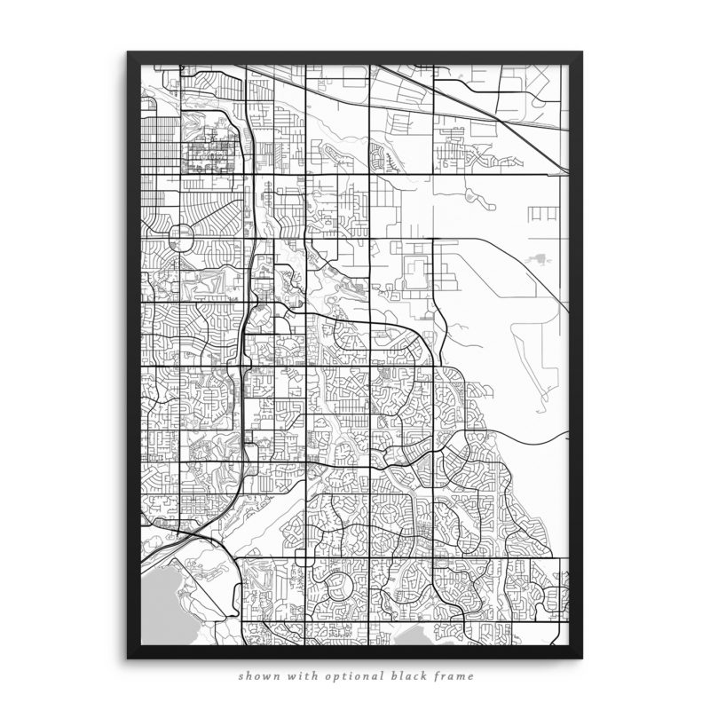 Aurora CO City Street Map White Poster