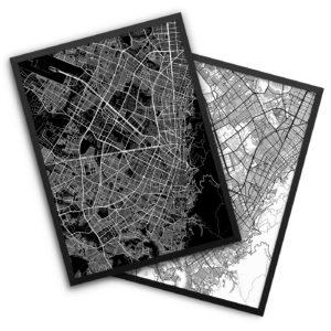 Bogota Colombia City Map Decor