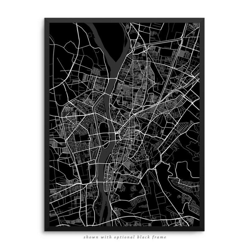 Cairo Egypt City Street Map Black Poster