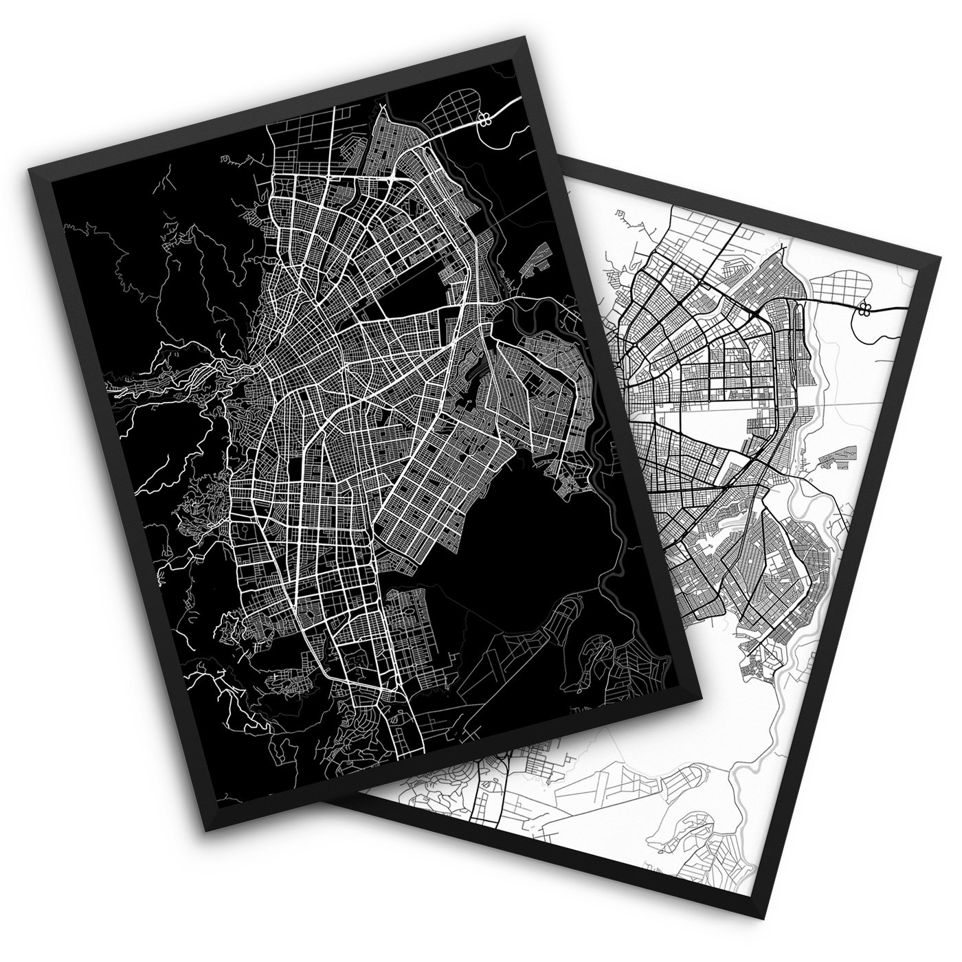 Cali Colombia City Map Decor