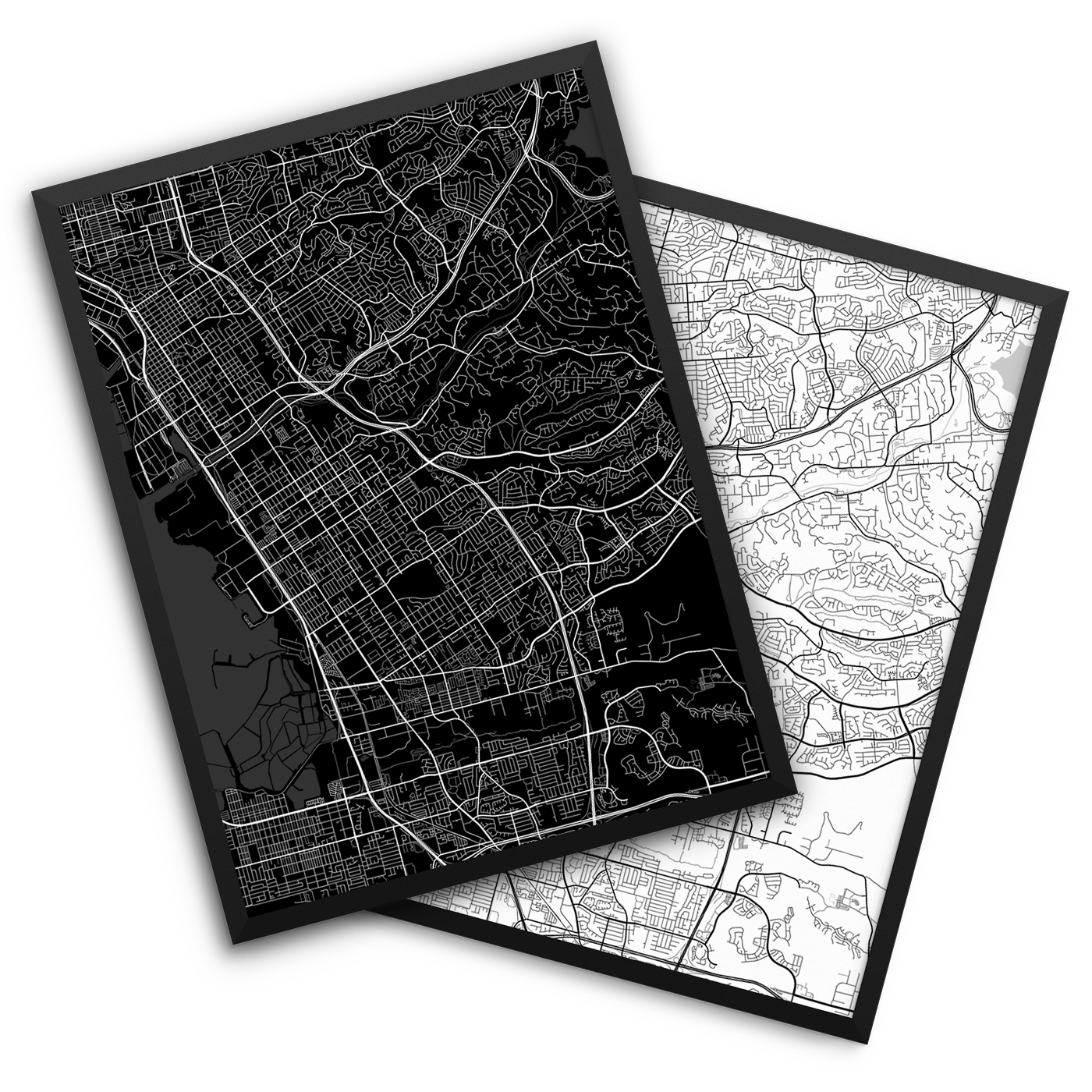 Chula Vista CA City Map Decor