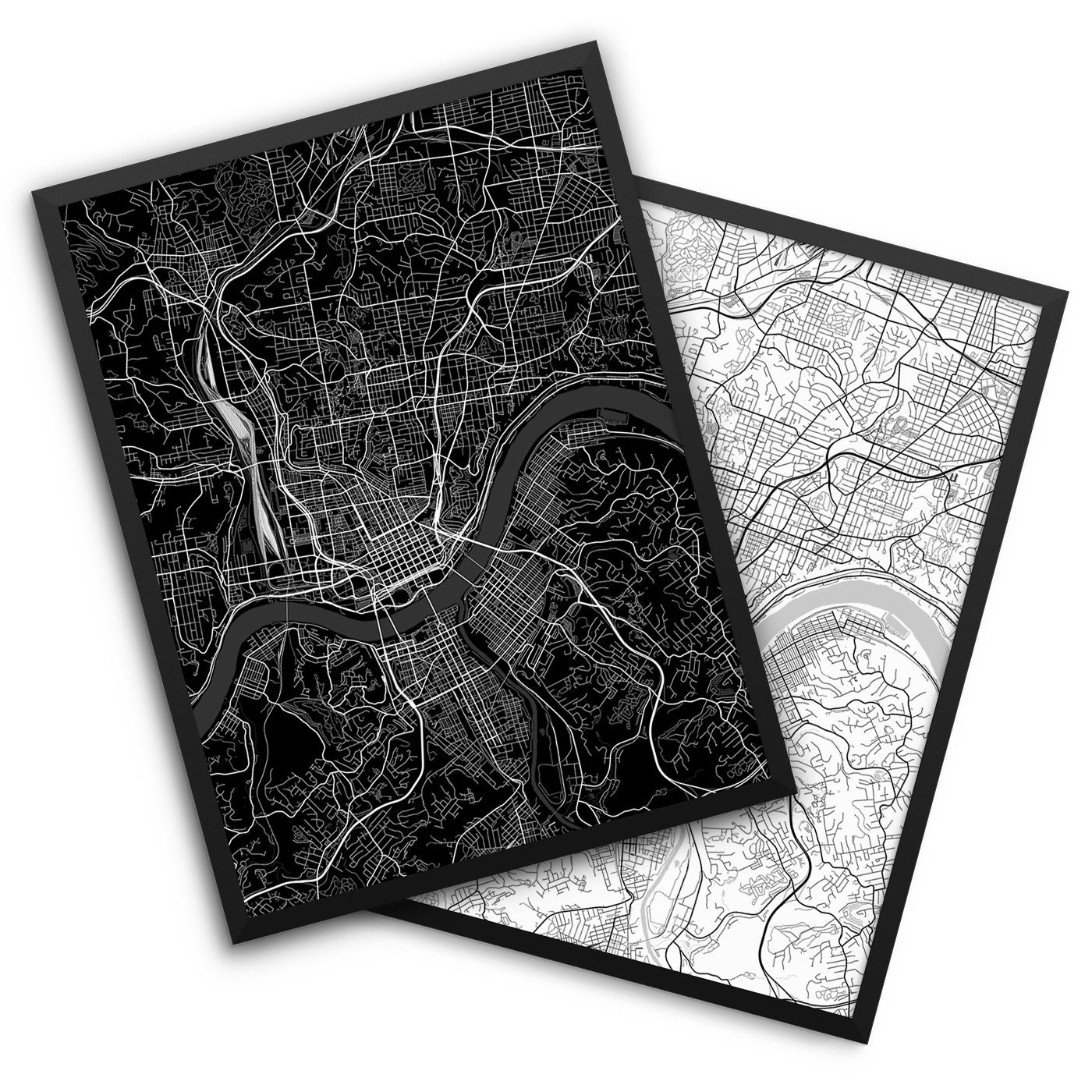 Cincinnati OH City Map Decor