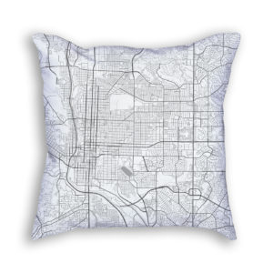 Colorado Springs Colorado City Map Art Decorative Throw Pillow