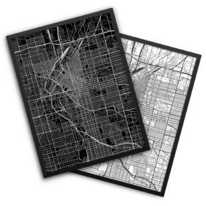 Denver CO City Map Decor