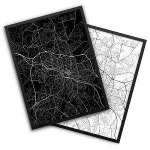 at home decor store durham nc durham poster city map decor 13133