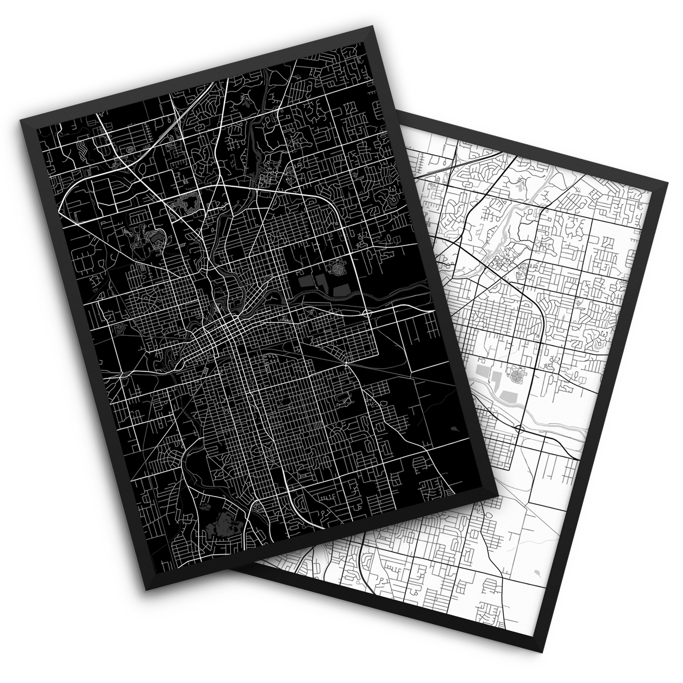 Fort Wayne IN City Map Decor
