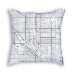 Fresno California City Map Art Decorative Throw Pillow