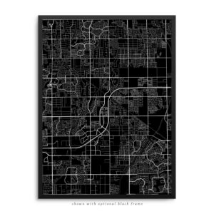 Gilbert AZ City Street Map Black Poster