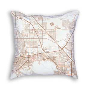 Henderson Nevada City Map Art Decorative Throw Pillow