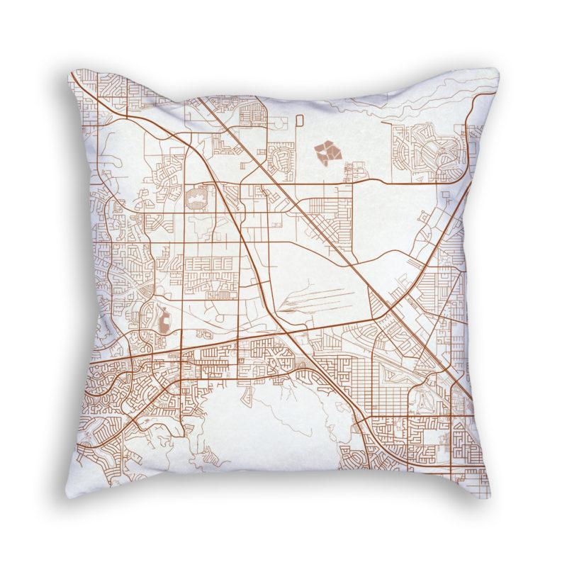 Henderson Nevada City Map Art Decorative Throw Pillow