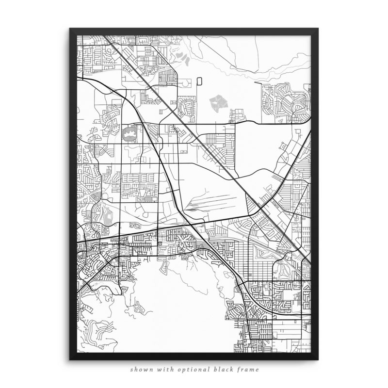 Henderson NV City Street Map White Poster