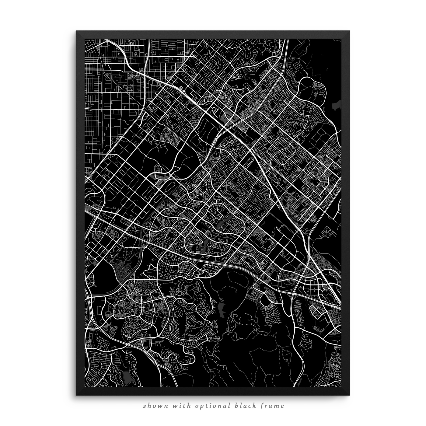 home decor stores in irvine ca irvine california poster city map decor 13330