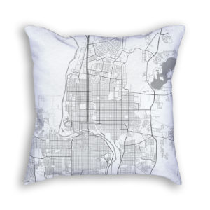 Laredo Texas City Map Art Decorative Throw Pillow