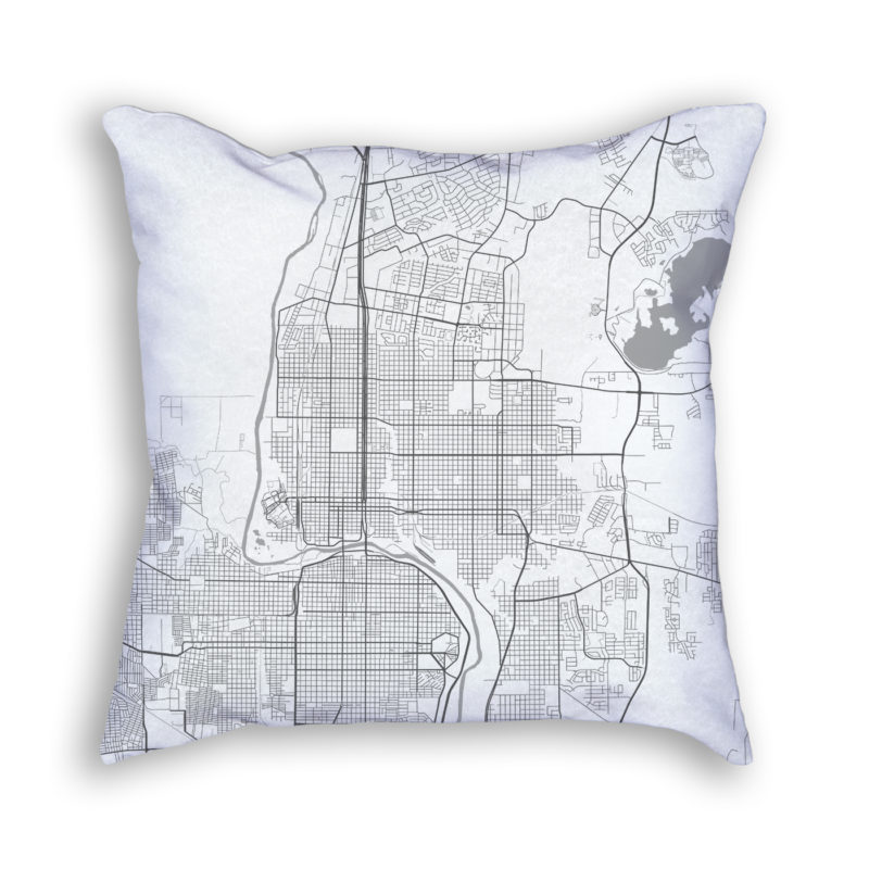 Laredo Texas City Map Art Decorative Throw Pillow