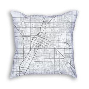 Las Vegas Nevada City Map Art Decorative Throw Pillow