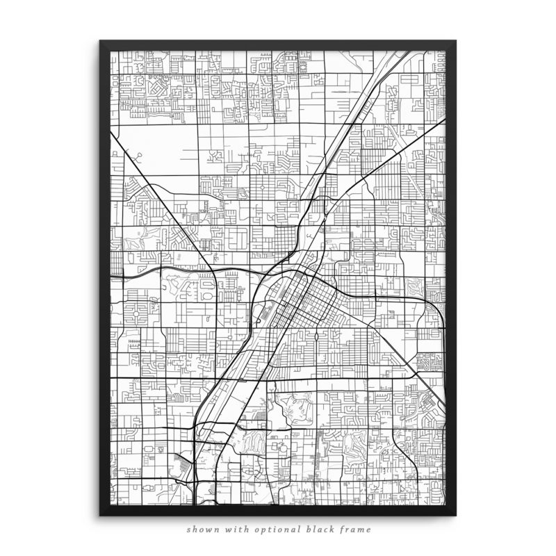 Las Vegas NV City Street Map White Poster