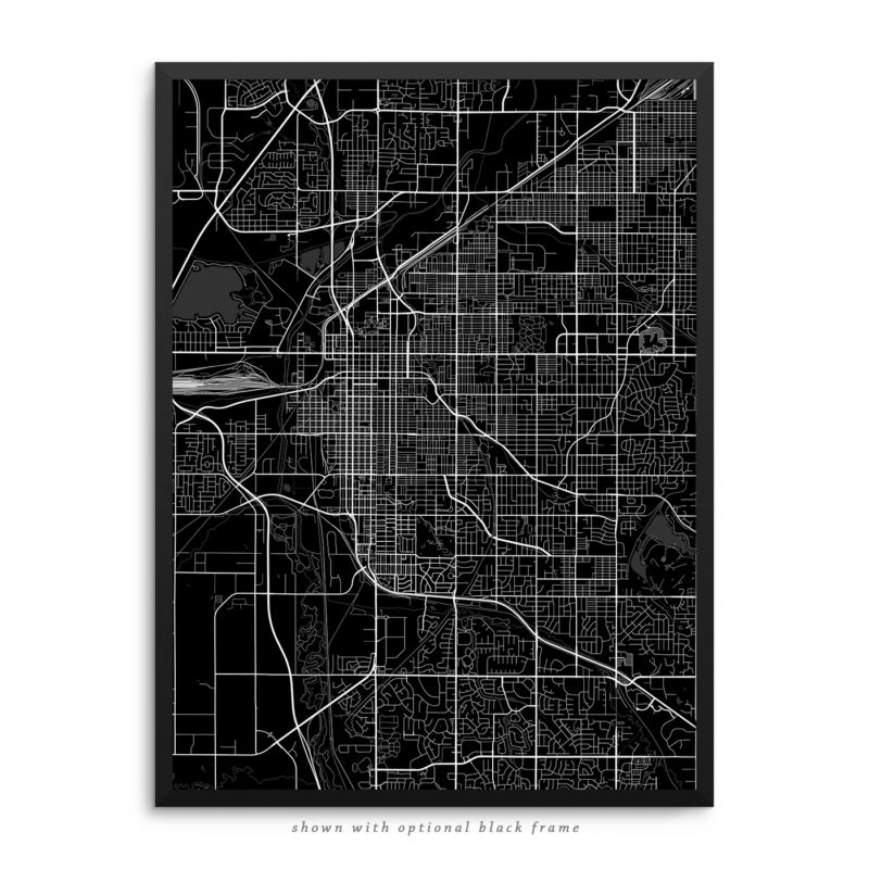 Lincoln NE City Street Map Black Poster