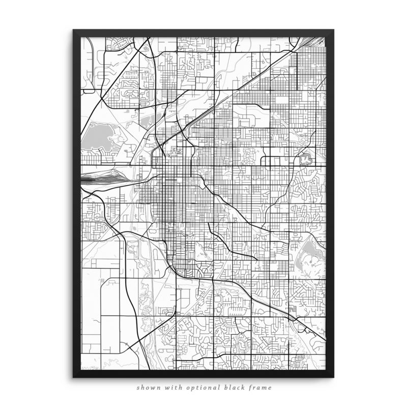 Lincoln NE City Street Map White Poster
