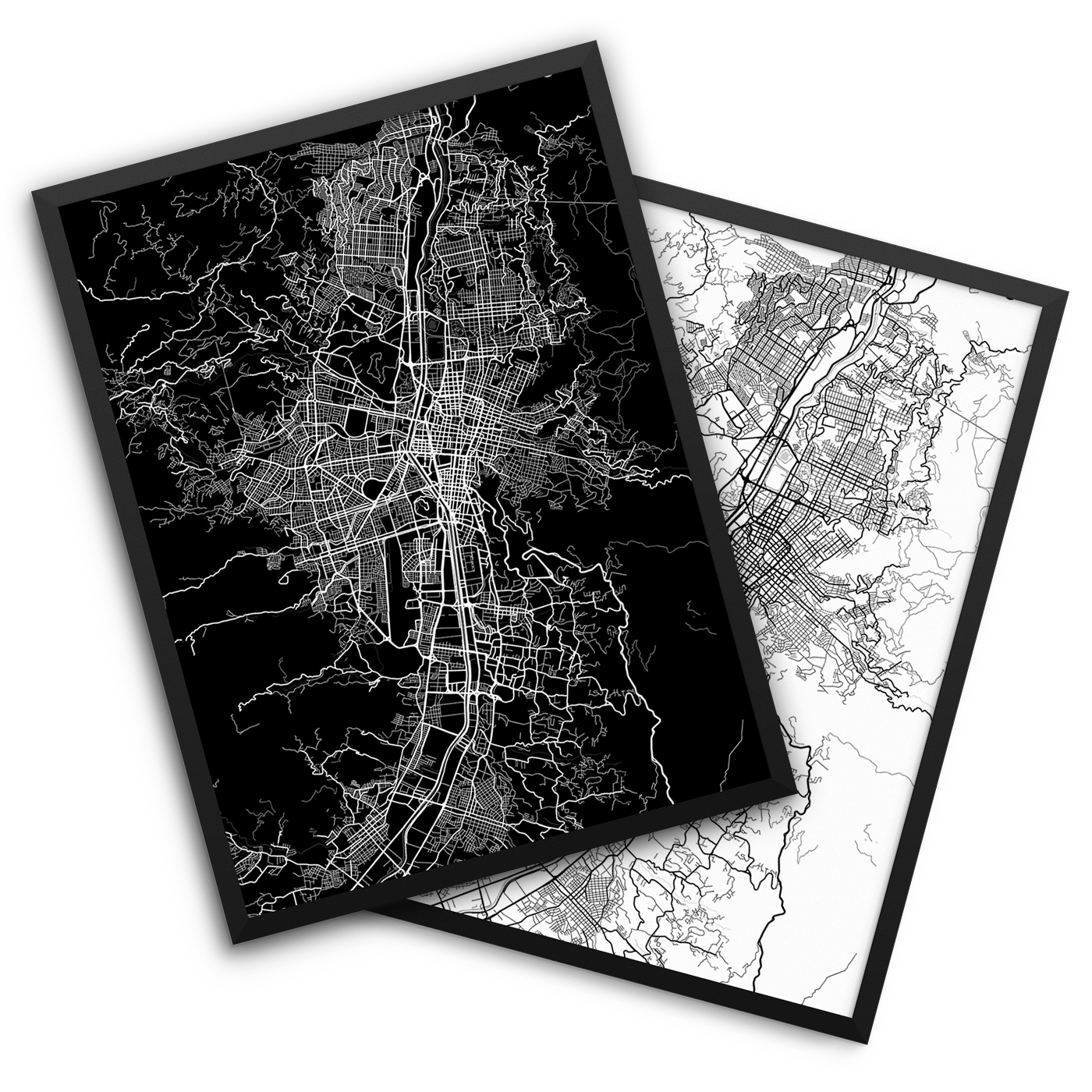 Medellin Colombia City Map Decor