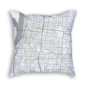 Memphis Tennessee City Map Art Decorative Throw Pillow