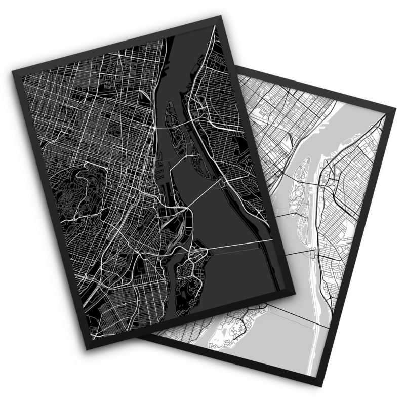 Montreal Canada City Map Decor