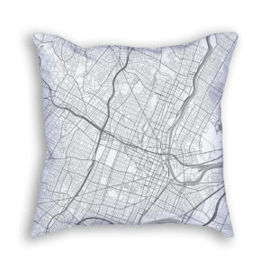 Newark New Jersey City Map Art Decorative Throw Pillow