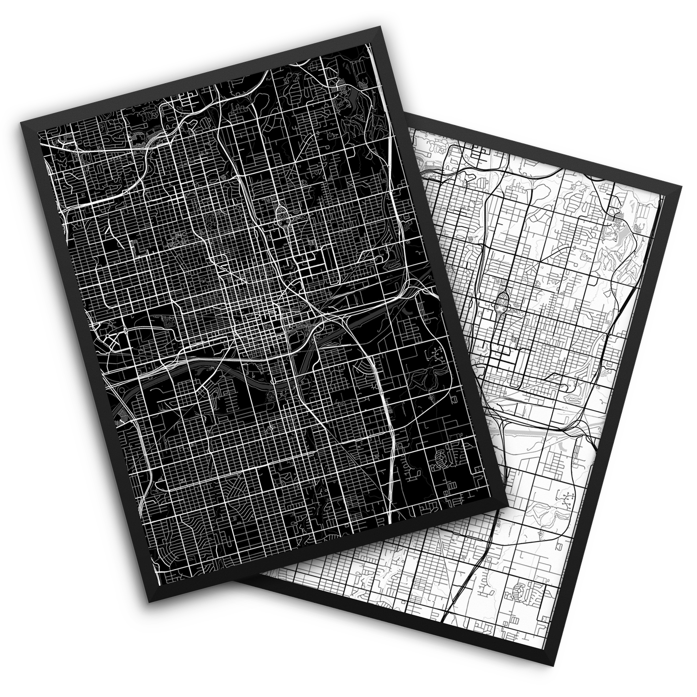 Oklahoma City OK City Map Decor