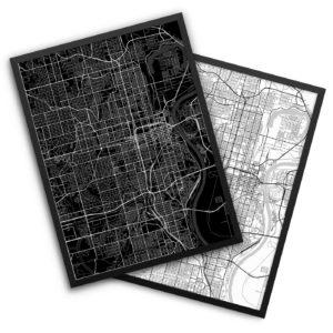 Omaha NE City Map Decor