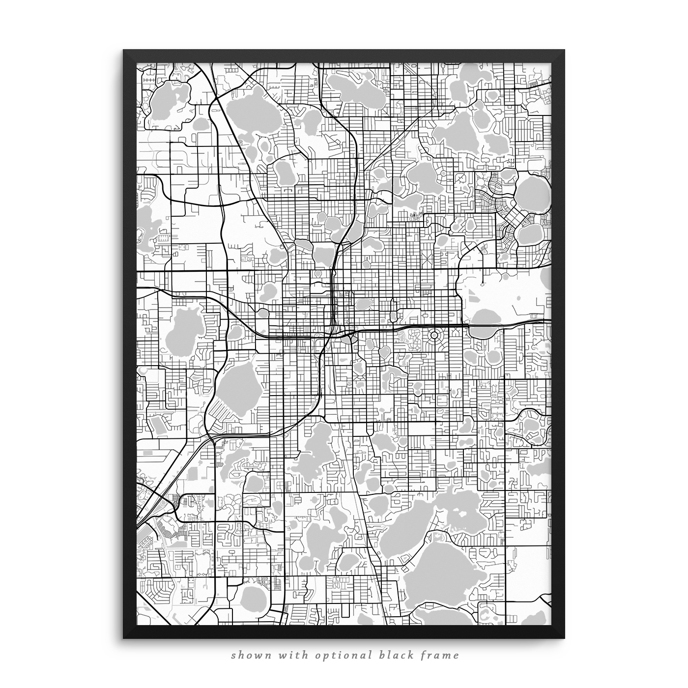 Orlando Florida Poster City Map Decor