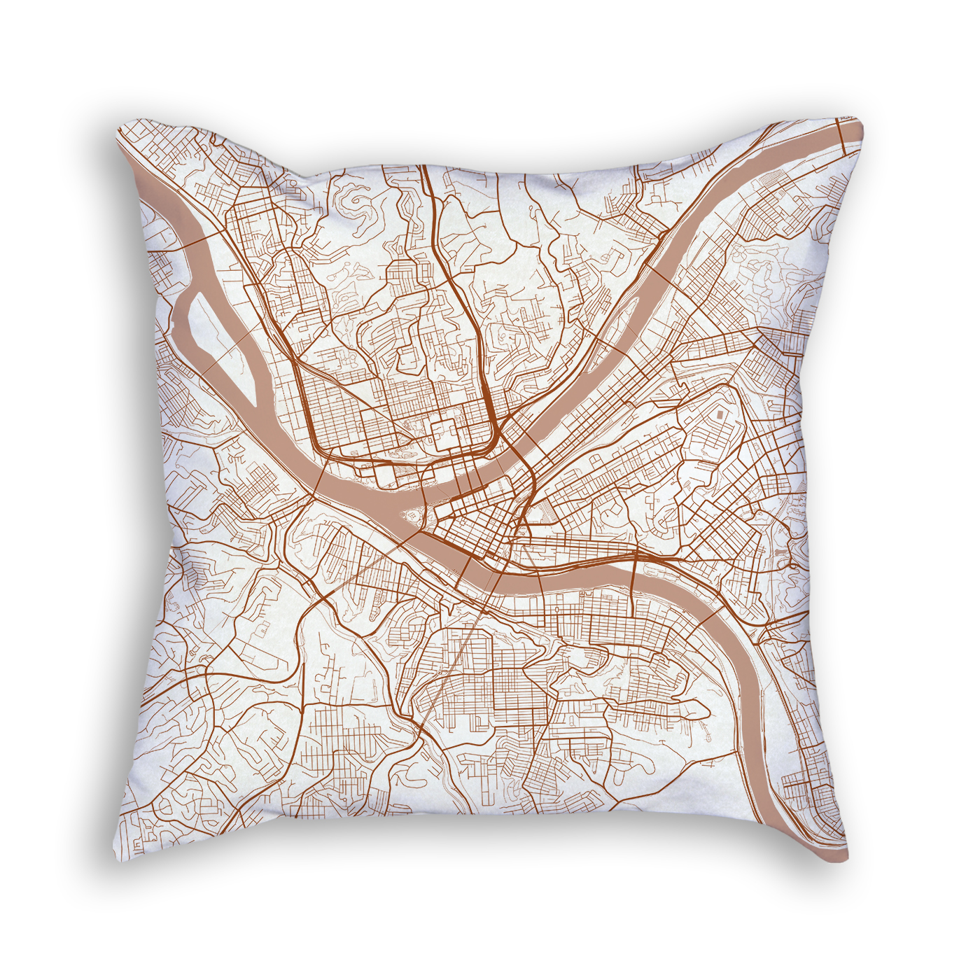 Pittsburgh Pennsylvania Throw Pillow